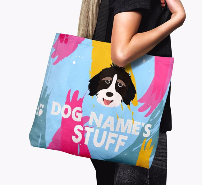 'Paint Splatter' - Personalised Mixed Breed Canvas Bag