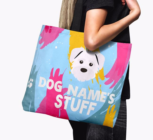 'Paint Splatter' - Personalised Rescue Dog Canvas Bag
