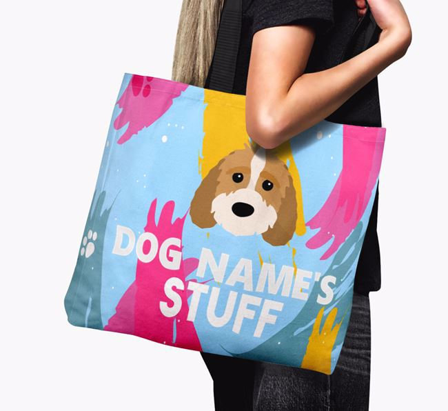 'Paint Splatter' - Personalised Sproodle Canvas Bag