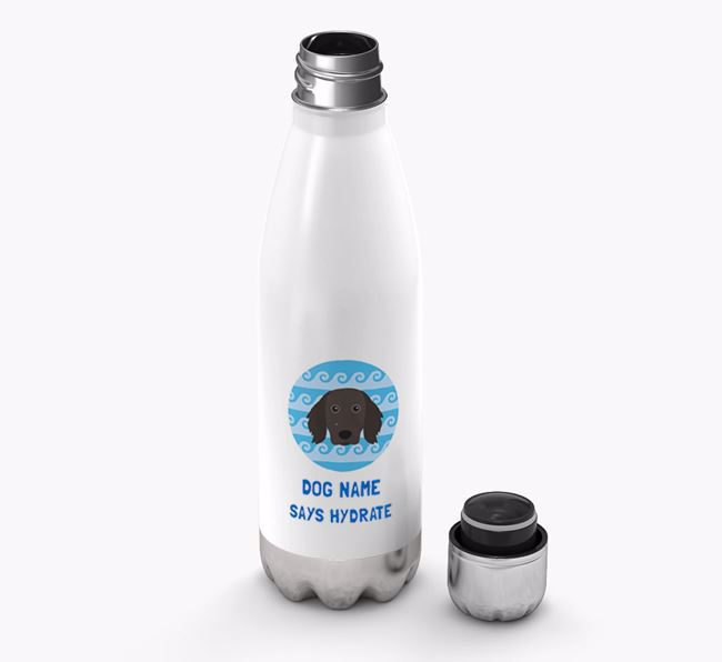 'Says Hydrate' - Personalized Large Munsterlander Water Bottle