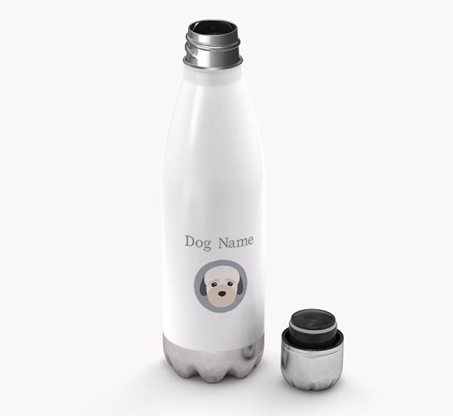 Personalized Bich-poo Yappicon Water Bottle