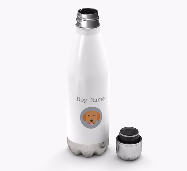Personalized Golden Retriever Yappicon Water Bottle