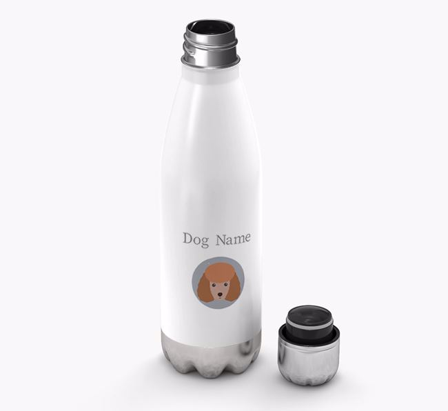 Personalized Miniature Poodle Yappicon Water Bottle