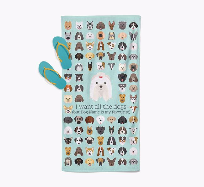 'I Want All The Dogs' - Personalised Shih Tzu Towel