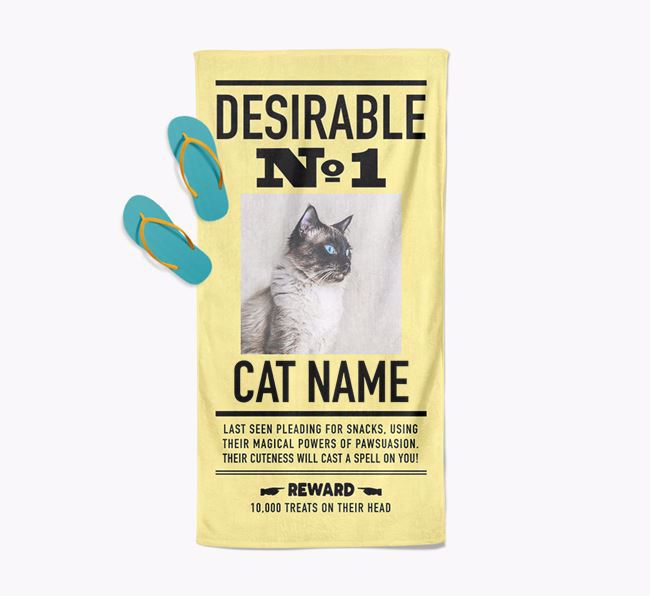 'Desirable No. 1' - Personalized Balinese Towel
