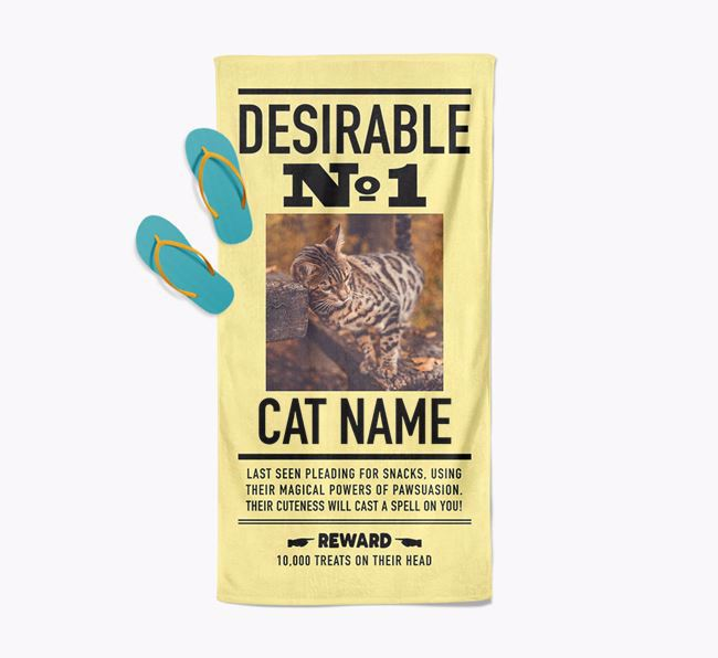 'Desirable No. 1' - Personalized Bengal Towel