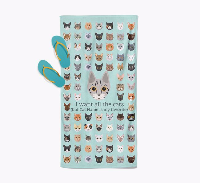 'I Want All The Cats' - Personalized Ashera Towel