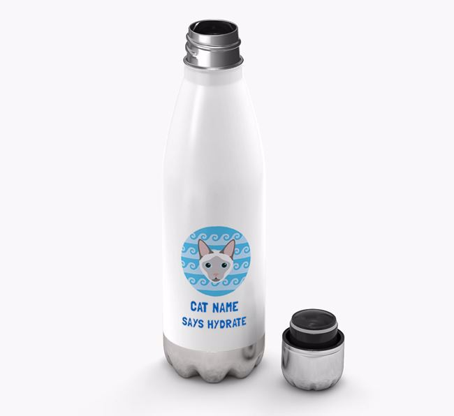 'Says Hydrate' - Personalised Siamese Water Bottle