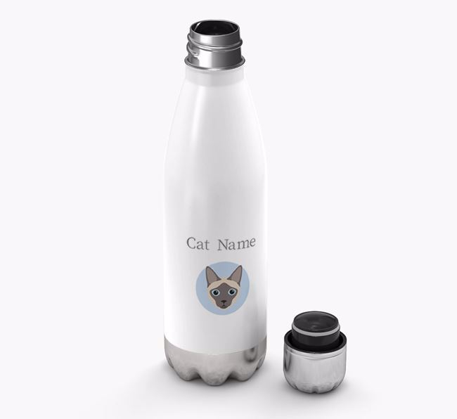 'Siamese Yappicon' - Personalised Water Bottle