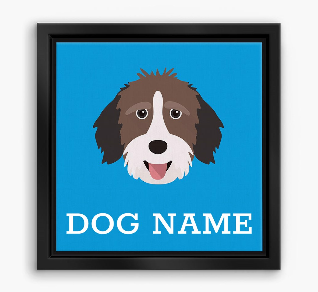 Personalised 'Yappicon' Aussiedoodle Boxed Canvas Print