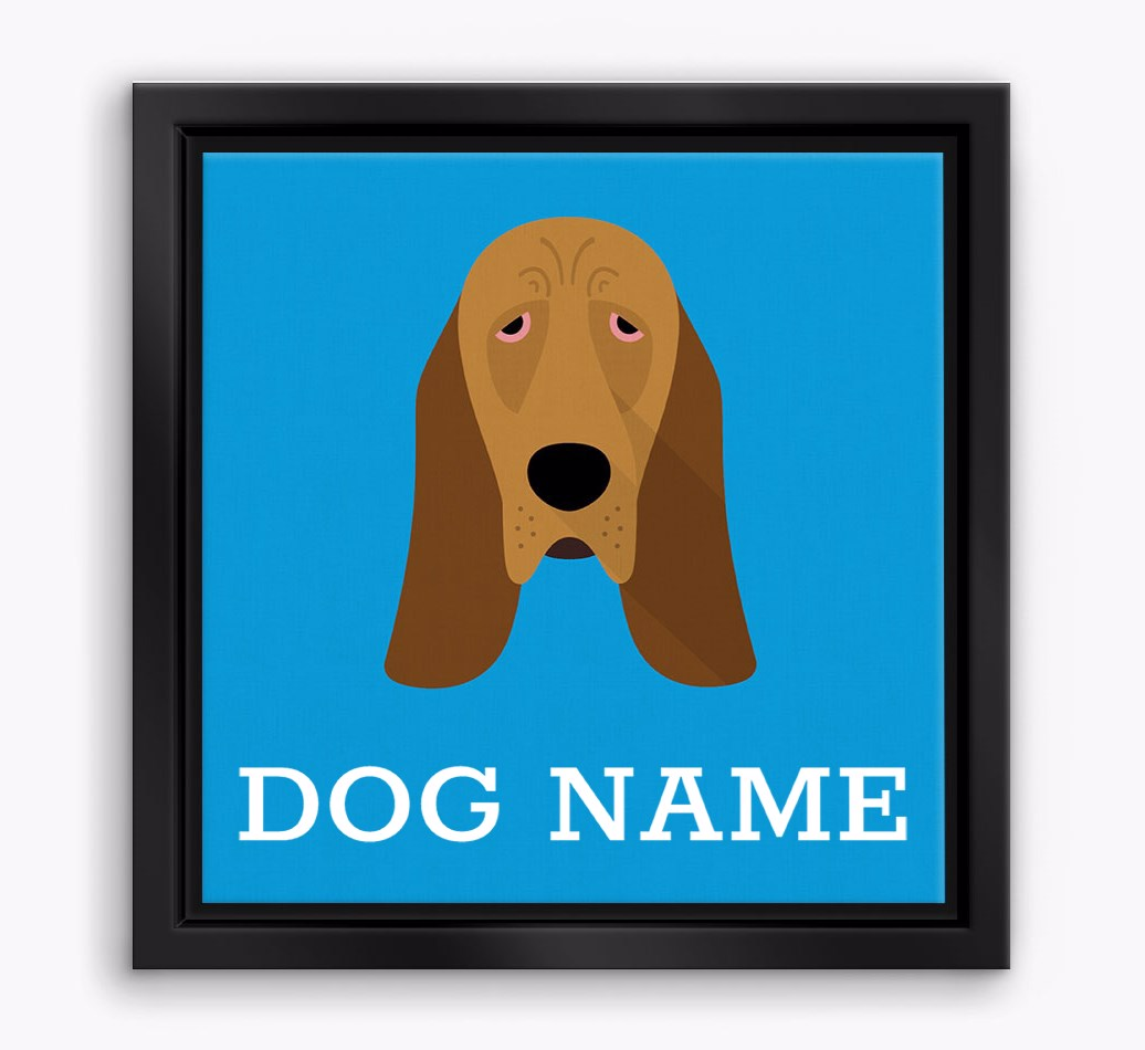 Personalised 'Yappicon' Bloodhound Boxed Canvas Print