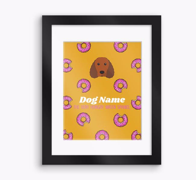 Personalised 'Your Dog the very hungry Water Spaniel' Framed Print