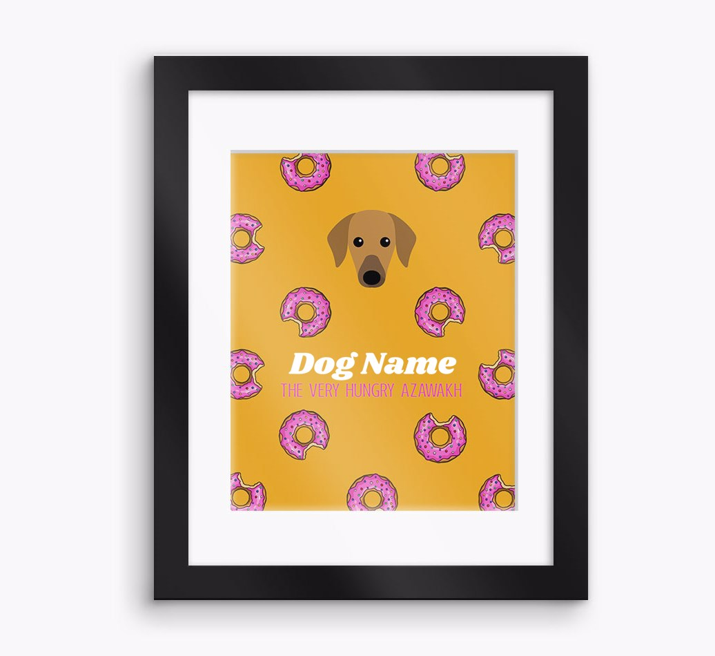 Personalised 'The very hungry...' Azawakh Framed Print - Black Frame