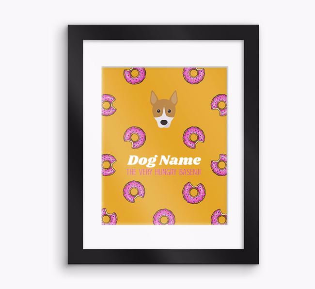 Personalised 'Your Dog the very hungry Basenji' Framed Print