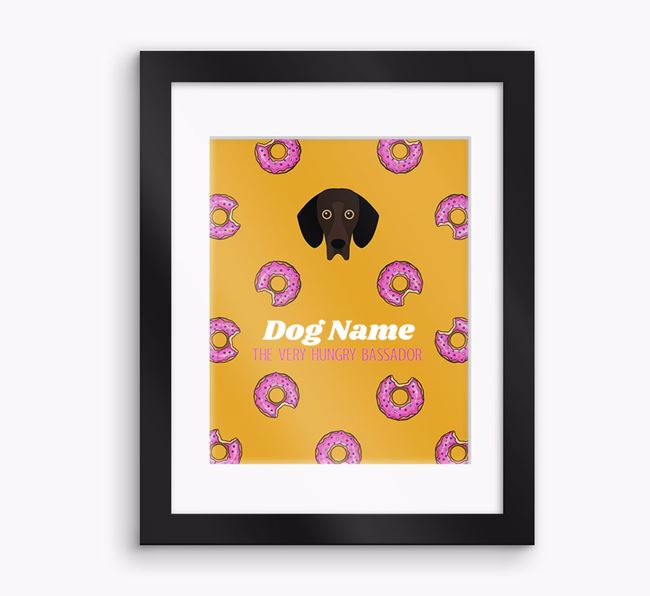Personalised 'Your Dog the very hungry Bassador' Framed Print