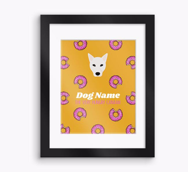 Personalised 'Your Dog the very hungry Canaan' Framed Print
