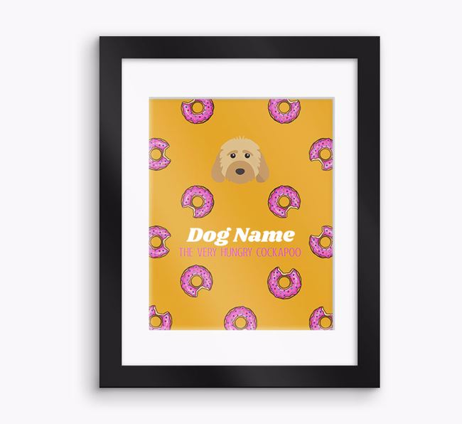 Personalised 'Your Dog the very hungry Dog' Framed Print