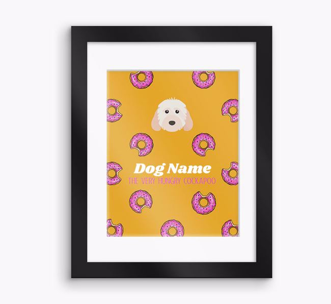Personalised 'Your Dog the very hungry Cockapoo' Framed Print
