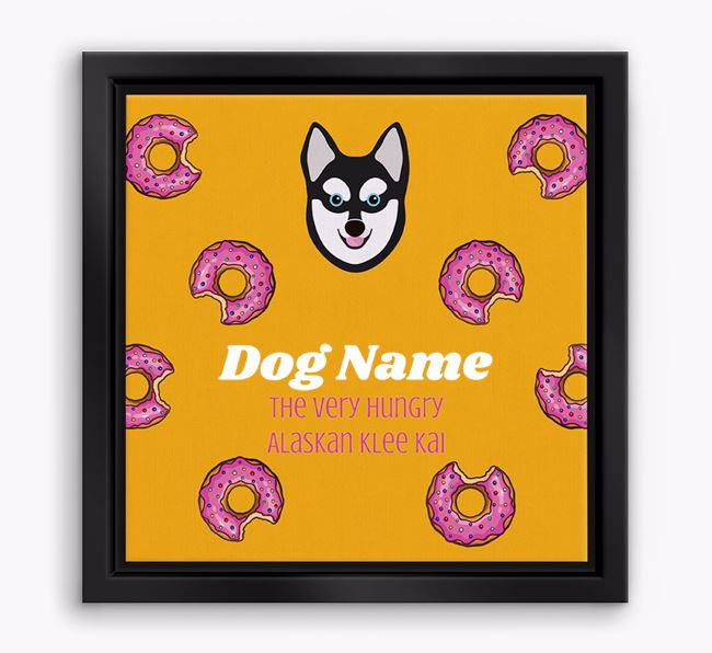 'Your Dog the hungry Alaskan Klee Kai' Boxed Canvas Print