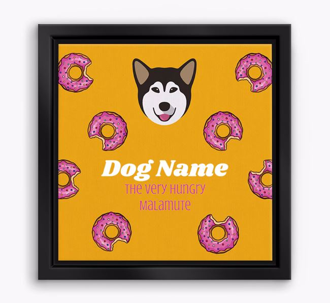 'Your Dog the hungry Malamute' Boxed Canvas Print