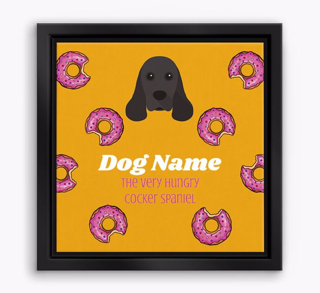 'Your Dog the hungry Cocker Spaniel' Boxed Canvas Print