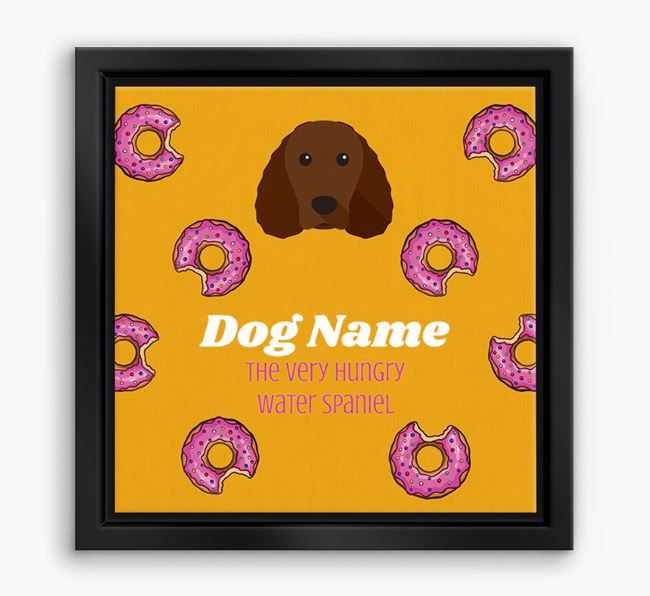 'Your Dog the hungry Water Spaniel' Boxed Canvas Print