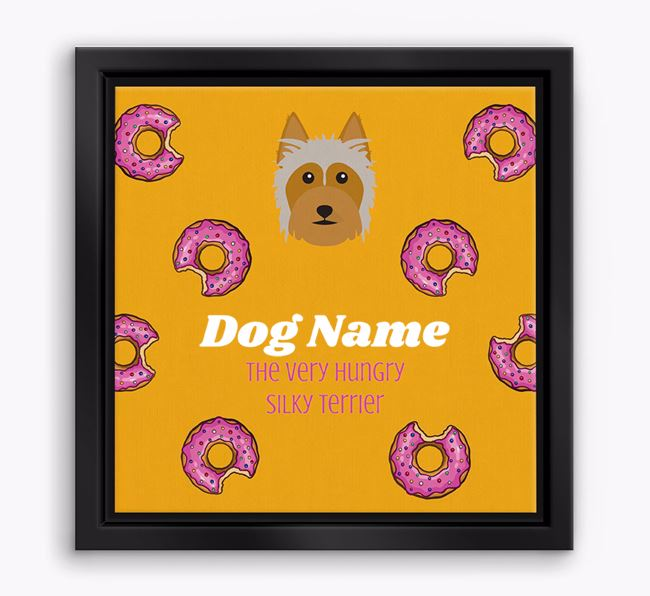 'Your Dog the hungry Silky Terrier' Boxed Canvas Print
