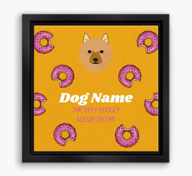 'Your Dog the hungry Aussie Terrier' Boxed Canvas Print