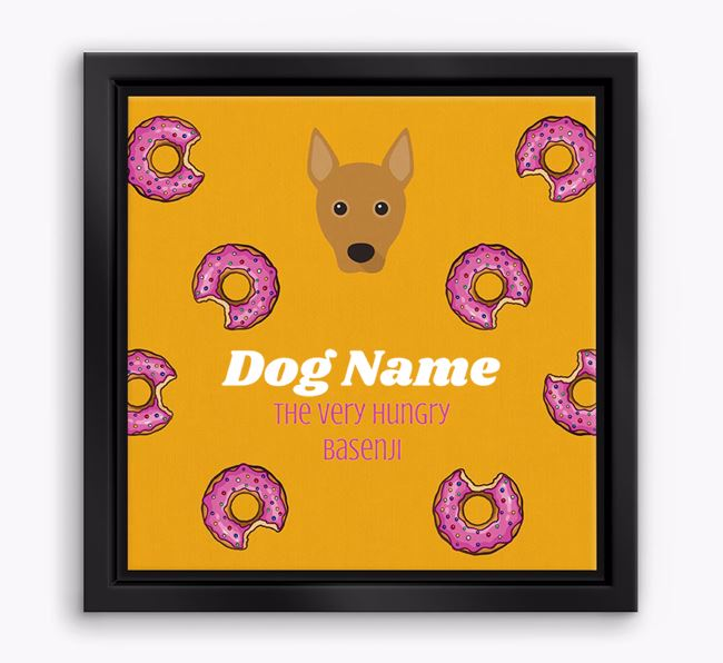 'Your Dog the hungry Basenji' Boxed Canvas Print