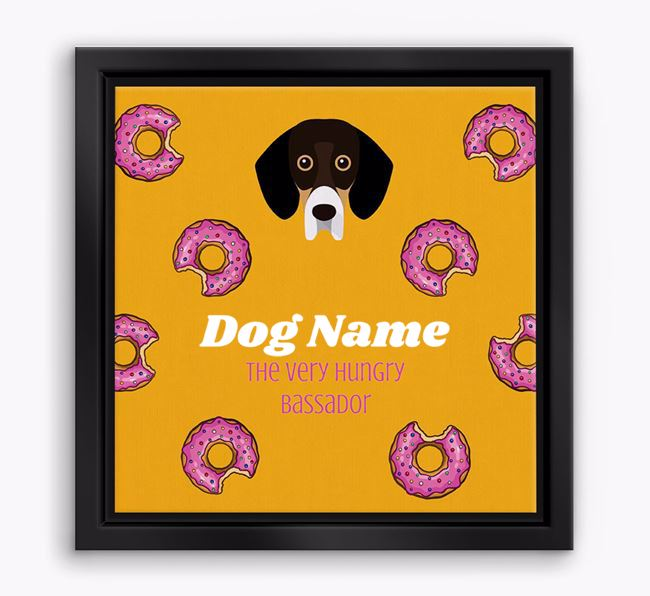 'Your Dog the hungry Bassador' Boxed Canvas Print