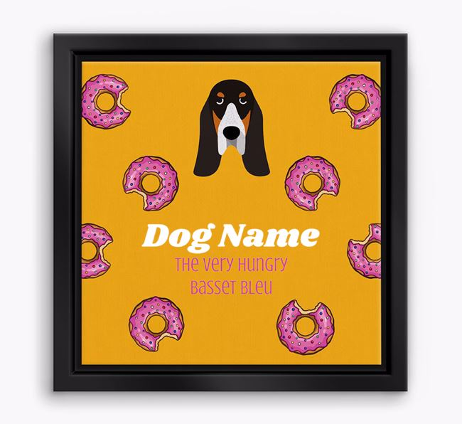 'Your Dog the hungry Basset Bleu' Boxed Canvas Print