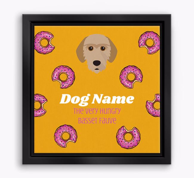 'Your Dog the hungry Basset Fauve' Boxed Canvas Print