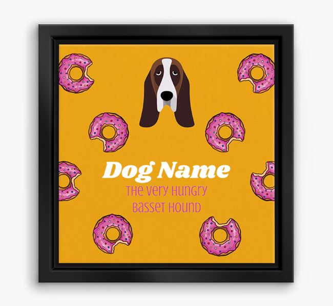 'Your Dog the hungry Basset Hound' Boxed Canvas Print
