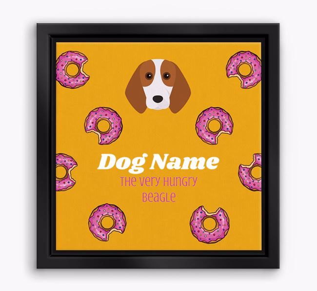 'Your Dog the hungry Beagle' Boxed Canvas Print