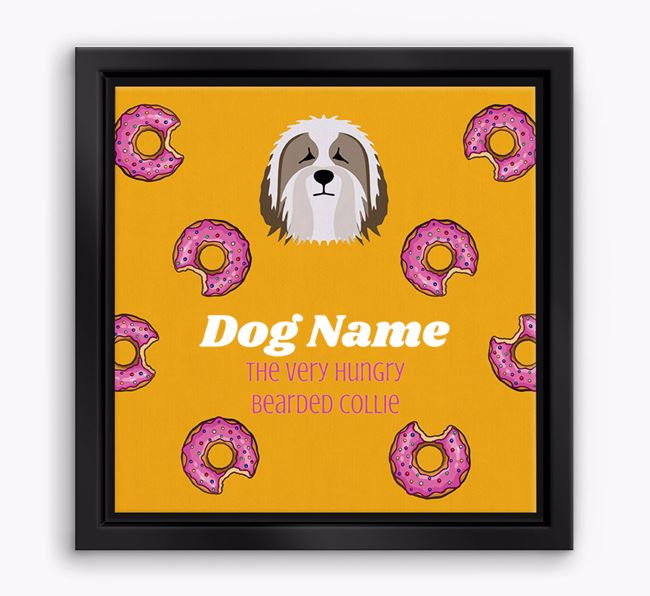 'Your Dog the hungry Bearded Collie' Boxed Canvas Print