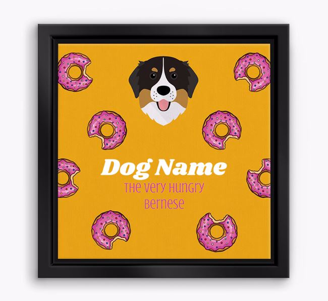 'Your Dog the hungry Bernese' Boxed Canvas Print
