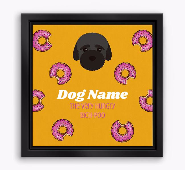 'Your Dog the hungry Bich-poo' Boxed Canvas Print