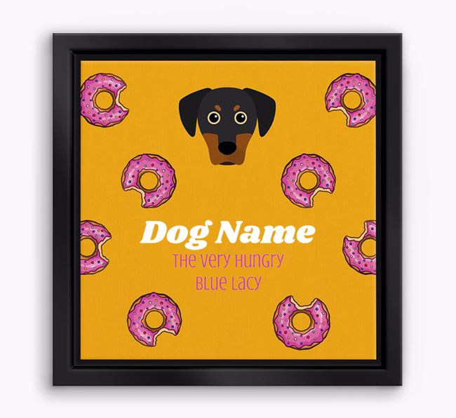 'Your Dog the hungry Blue Lacy' Boxed Canvas Print