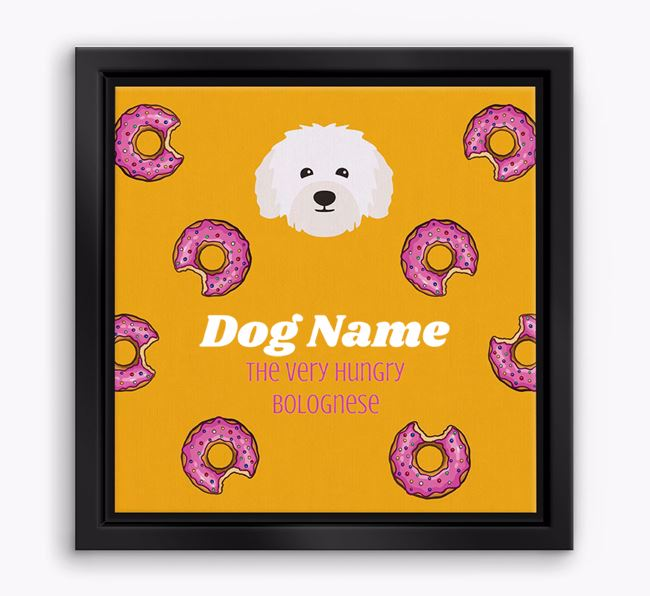 'Your Dog the hungry Bolognese' Boxed Canvas Print