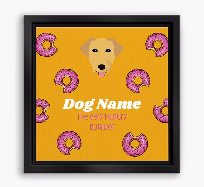 'Your Dog the hungry Borador' Boxed Canvas Print