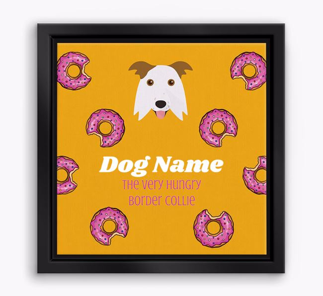 'Your Dog the hungry Border Collie' Boxed Canvas Print