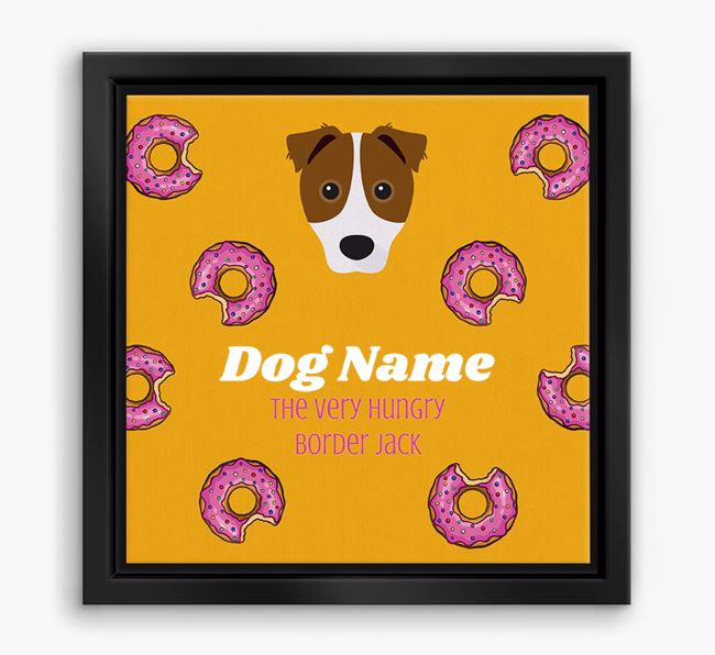 'Your Dog the hungry Border Jack' Boxed Canvas Print