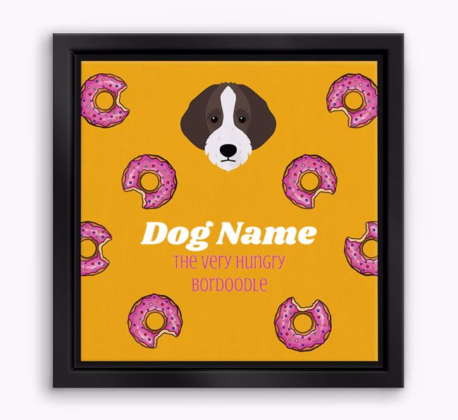 'Your Dog the hungry Bordoodle' Boxed Canvas Print