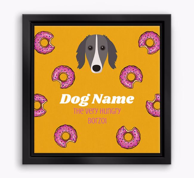 'Your Dog the hungry Borzoi' Boxed Canvas Print