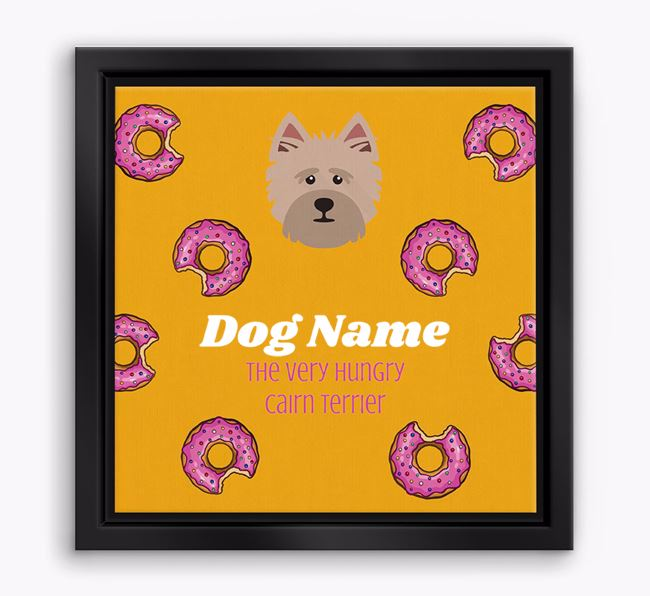 'Your Dog the hungry Cairn Terrier' Boxed Canvas Print