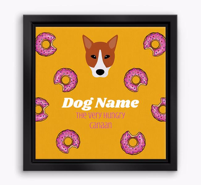 'Your Dog the hungry Canaan' Boxed Canvas Print