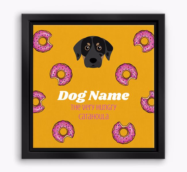 'Your Dog the hungry Catahoula' Boxed Canvas Print