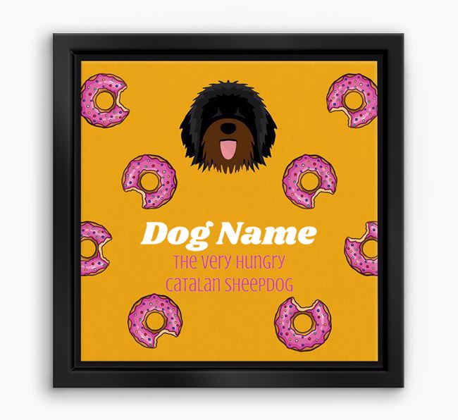 'Your Dog the hungry Catalan Sheepdog' Boxed Canvas Print