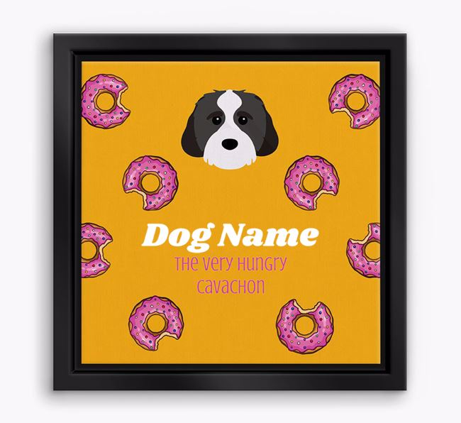 'Your Dog the hungry Cavachon' Boxed Canvas Print