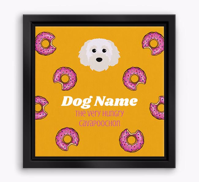 'Your Dog the hungry Cavapoochon' Boxed Canvas Print